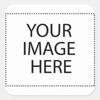 Beagle-Heißluft-Ballon Quadratischer Aufkleber