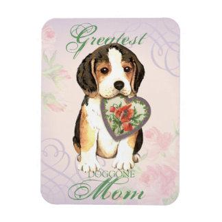 Beagle-Herz-Mamma Magnet