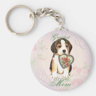 Beagle-Herz-Mamma Schlüsselanhänger