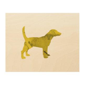Beagle Holzdruck