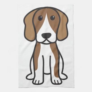 Beagle-HundeCartoon Geschirrtuch