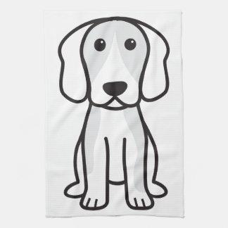 Beagle-HundeCartoon Handtuch