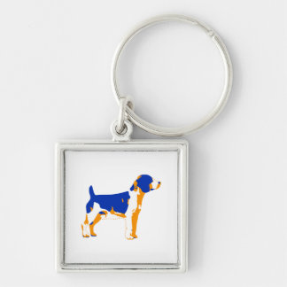 Beagle-Jagdhund-Pop-Kunst Schlüsselanhänger