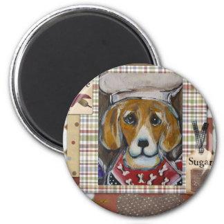 Beagle-Koch Runder Magnet 5,7 Cm