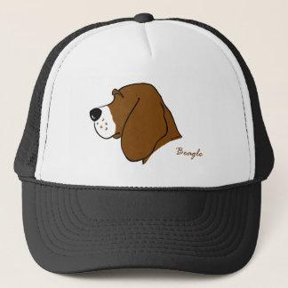Beagle Kopf Silhouette Truckerkappe