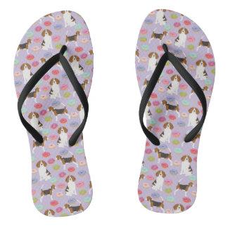Beagle-Krapfen-Schuhe Flip Flops