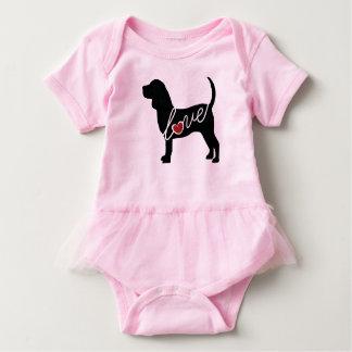 Beagle-Liebe Baby Strampler