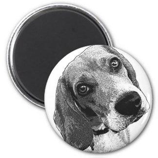 Beagle-Liebe Runder Magnet 5,7 Cm