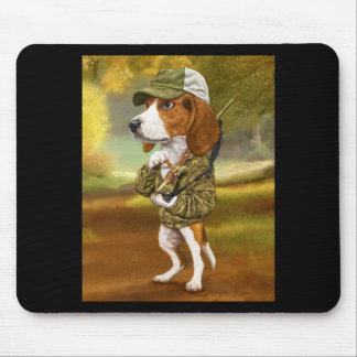 Beagle - mächtiger Jäger Mauspads