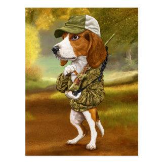 Beagle - mächtiger Jäger Postkarte