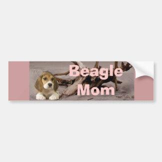 Beagle-Mamma-Autoaufkleber Autoaufkleber