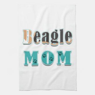 Beagle-Mamma Brown Schwarz-weiß Handtuch