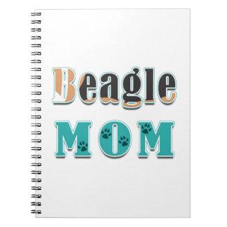 Beagle-Mamma-Hundefarben Notizblock
