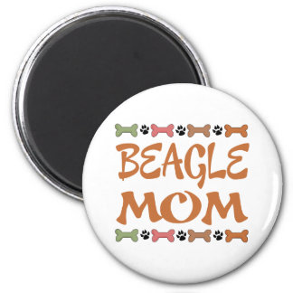 Beagle-Mamma-Hundehaustier-Geschenk Runder Magnet 5,1 Cm