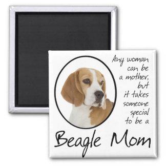 Beagle-Mamma-Magnet Quadratischer Magnet