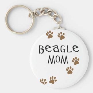 Beagle-Mamma Schlüsselanhänger