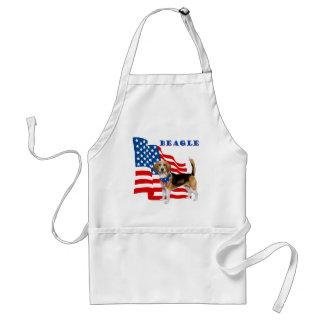Beagle mit amerikanischer Flagge Schürze