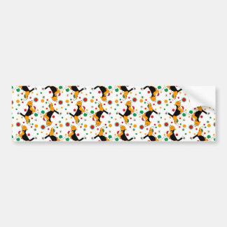 Beagle-Muster Autoaufkleber