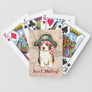 Beagle-Pirat Bicycle Spielkarten
