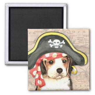 Beagle-Pirat Quadratischer Magnet