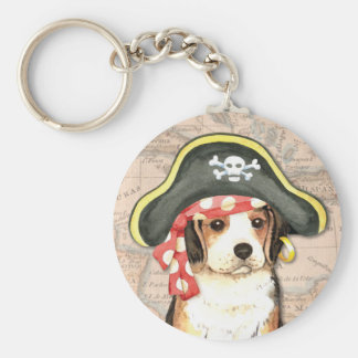 Beagle-Pirat Schlüsselanhänger
