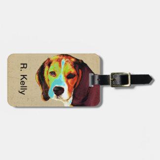 Beagle-Pop-Kunst Gepäckanhänger