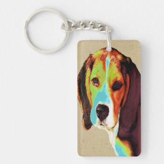 Beagle-Pop-Kunst Schlüsselanhänger