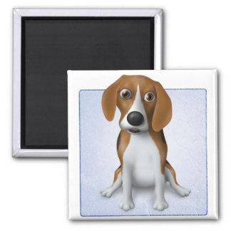 Beagle Quadratischer Magnet
