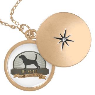Beagle Runde Medaillon Halskette