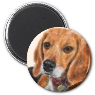 Beagle Runder Magnet 5,7 Cm