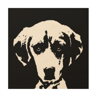 "Beagle-Schablone-Holz 12"""" Kunst der Wand-X12"