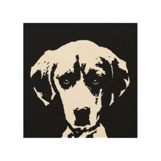 "Beagle-Schablone-Holz 8"""" Kunst der Wand-x8"