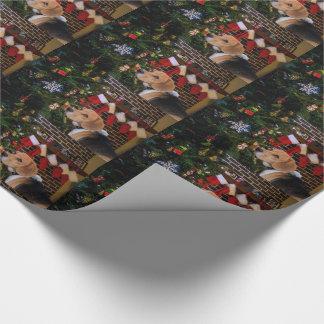 Beagle-Weihnachten Geschenkpapier