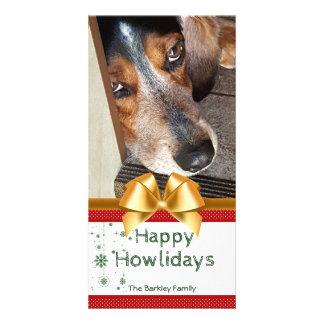 Beagle-WeihnachtsFoto glücklicher Howlidays Karte
