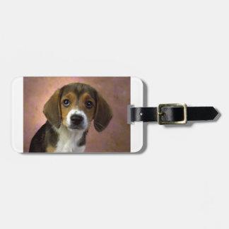 Beagle-Welpen-Hund Gepäckanhänger