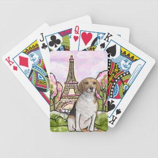 Beagleeiffel-Turm Paris Bicycle Spielkarten