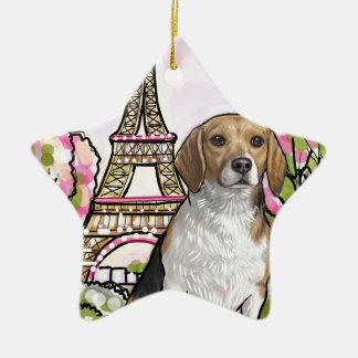 Beagleeiffel-Turm Paris Keramik Ornament