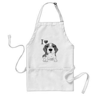 Beaglehund Schürze