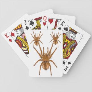 Beängstigende braune klassische Spielkarten