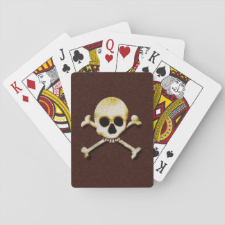 Beängstigende Creepy Schädel-und Spielkarte