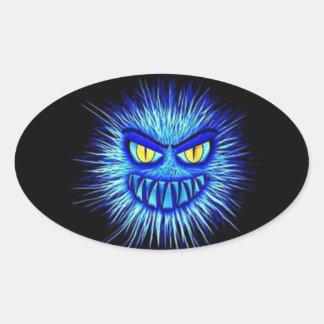 Beängstigende Gory Ghoulish Halloween-Illustration Ovaler Aufkleber
