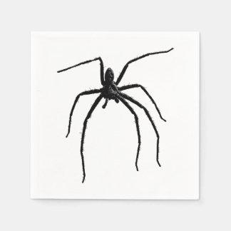 Beängstigende große Spinne Halloween Papierserviette