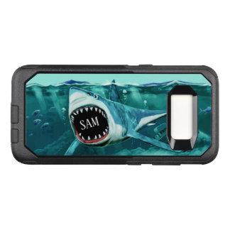 Beängstigende Haifisch-Name-Telefon-Hüllen OtterBox Commuter Samsung Galaxy S8 Hülle