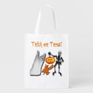 Beängstigende Halloween-Geschöpfe Wiederverwendbare Einkaufstasche