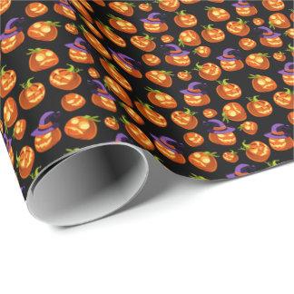 Beängstigende Halloween-Kürbise Geschenkpapier