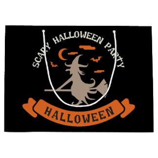 Beängstigende Hexe. Halloween-Partei Große Geschenktüte