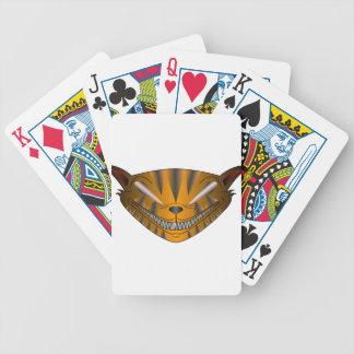 Beängstigende Katze Bicycle Spielkarten