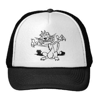 Beängstigende Katze Mütze