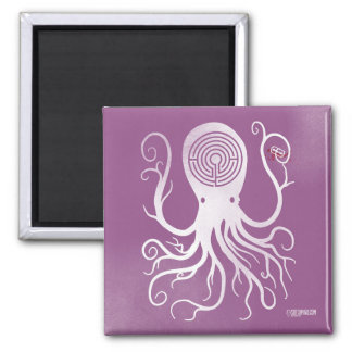 beängstigende Krake des rosa Magneten der Schnitte Quadratischer Magnet
