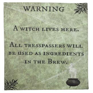 Beängstigende warnende Stoff-Serviette Halloweens Serviette